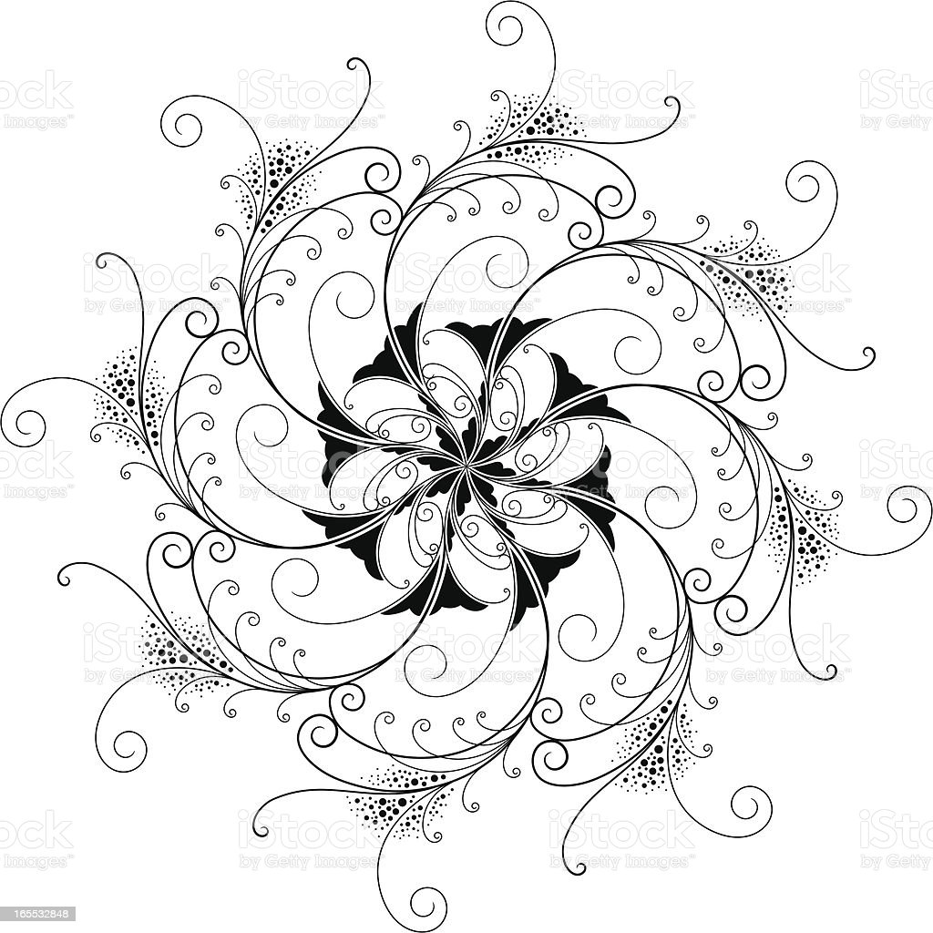 Growth Fleuron royalty-free stock vector art
