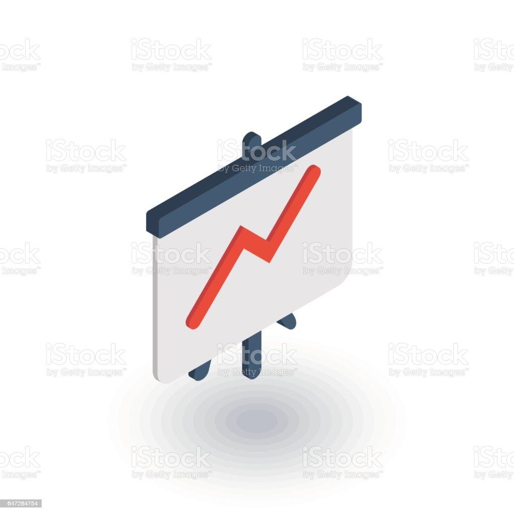 Wachstum-Diagramms, Markterfolg, Pfeil nach oben isometrische flach-Symbol. 3D Vektor – Vektorgrafik