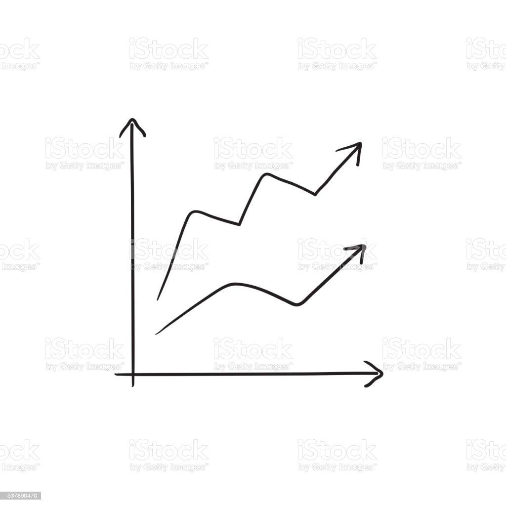 Wachstum Diagramm Skizzesymbol Stock Vektor Art und mehr Bilder von ...