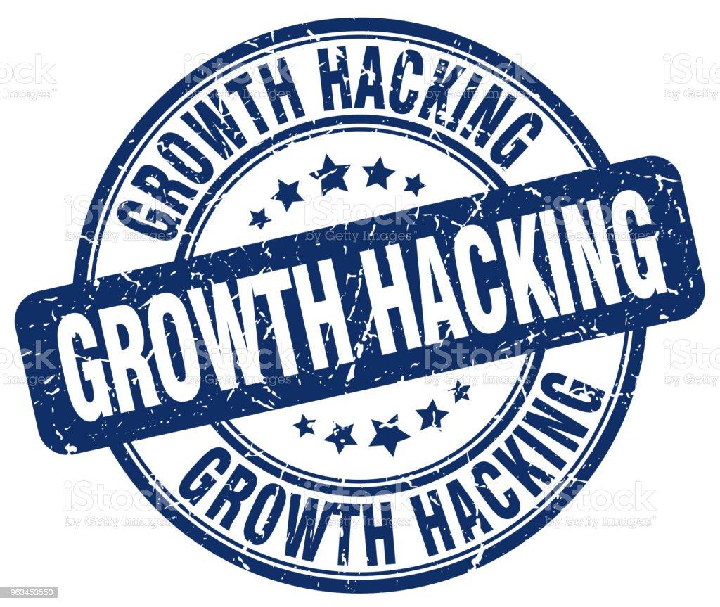 growth hacking blue grunge stamp - Grafika wektorowa royalty-free (Atrament)