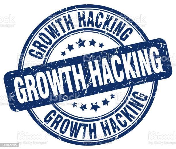 Wzrost Hacking Niebieski Stempel Grunge - Stockowe grafiki wektorowe i więcej obrazów Atrament