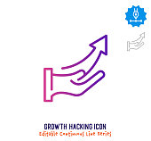 istock Growth Hacking Continuous Line Editable Icon 1249615303