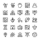 Growth Hacking Line Vector Icons