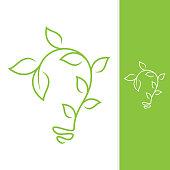 Growth leaf design vector shaped bulb for element design