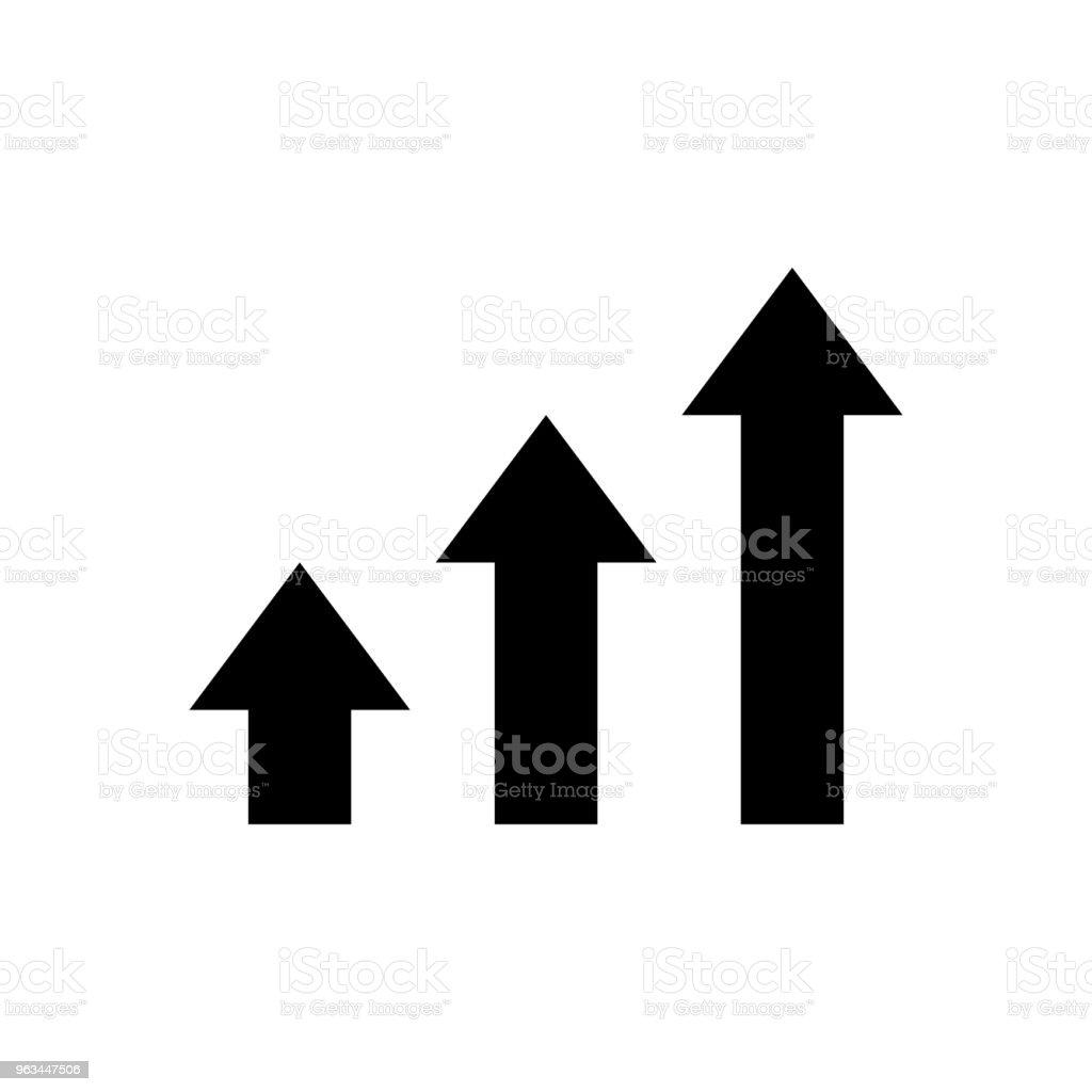 iş - vektör simge büyüme - Royalty-free Başarı Vector Art