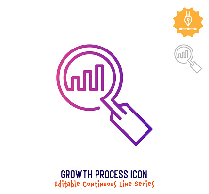 Growth Process Continuous Line Editable Icon
