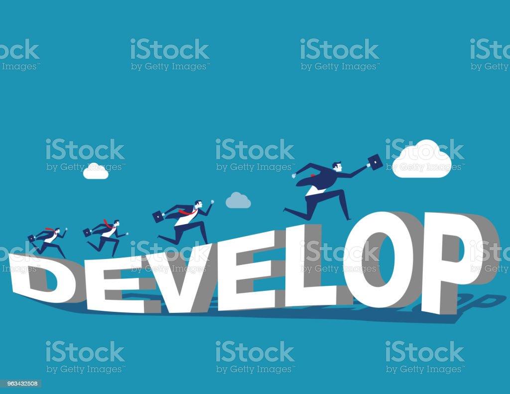 Growth.Corporate les gens et de développer. Illustration vectorielle de concept entreprise. - clipart vectoriel de Abstrait libre de droits