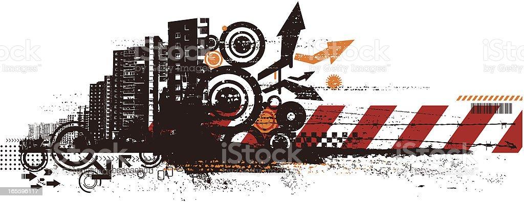 gruge paisagem urbana ilustração de gruge paisagem urbana e mais banco de imagens de apartamento royalty-free