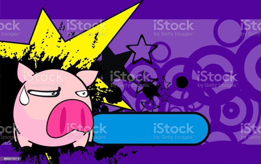 grumpy little pink pig ball cartoon expression background grumpy little pink pig ball cartoon expression background - stockowe grafiki wektorowe i więcej obrazów ameryka Łacińska royalty-free