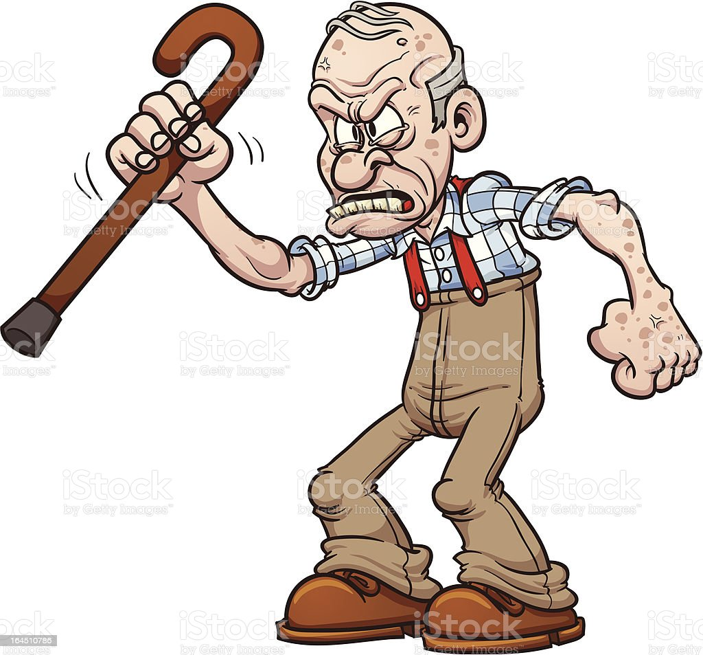 royalty free grumpy old man clip art vector images illustrations rh istockphoto com old man clip art funny old man clip art cartoon