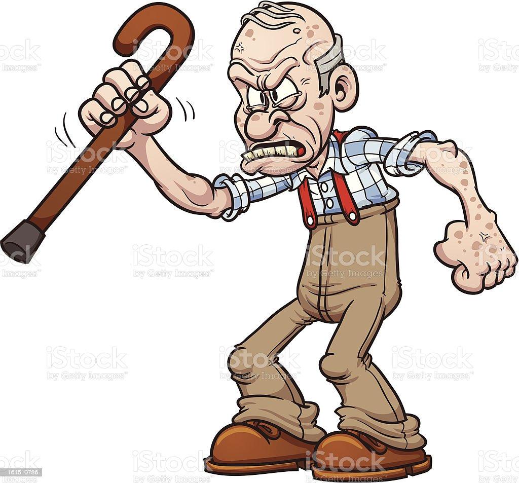 royalty free grumpy old man clip art vector images illustrations rh istockphoto com old man clip art cartoon old man clip art funny