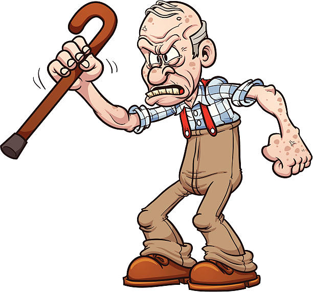 royalty free grumpy old man clip art vector images illustrations