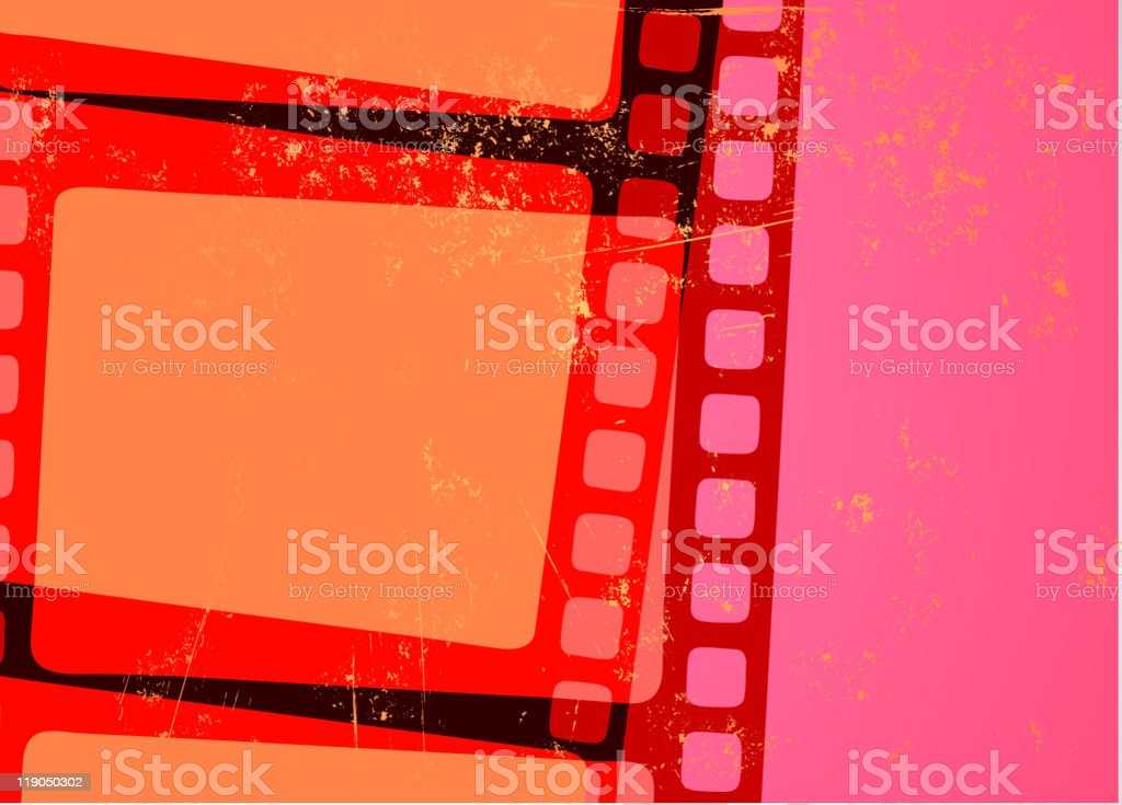 Grunge Abstract cinema background vector art illustration