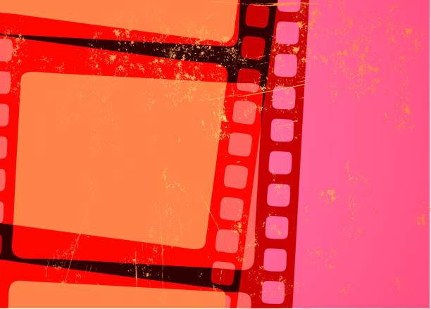 Grunge Abstract cinema background vector art illustration