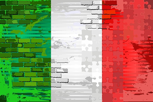 Grunge Abstract flag of the Italia