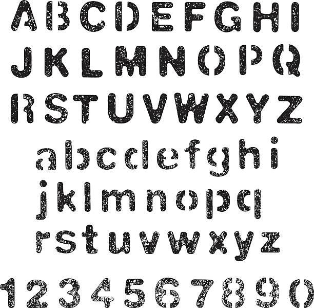 Grunge alphabet – Vektorgrafik