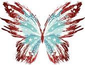 Grunge American Butterfly
