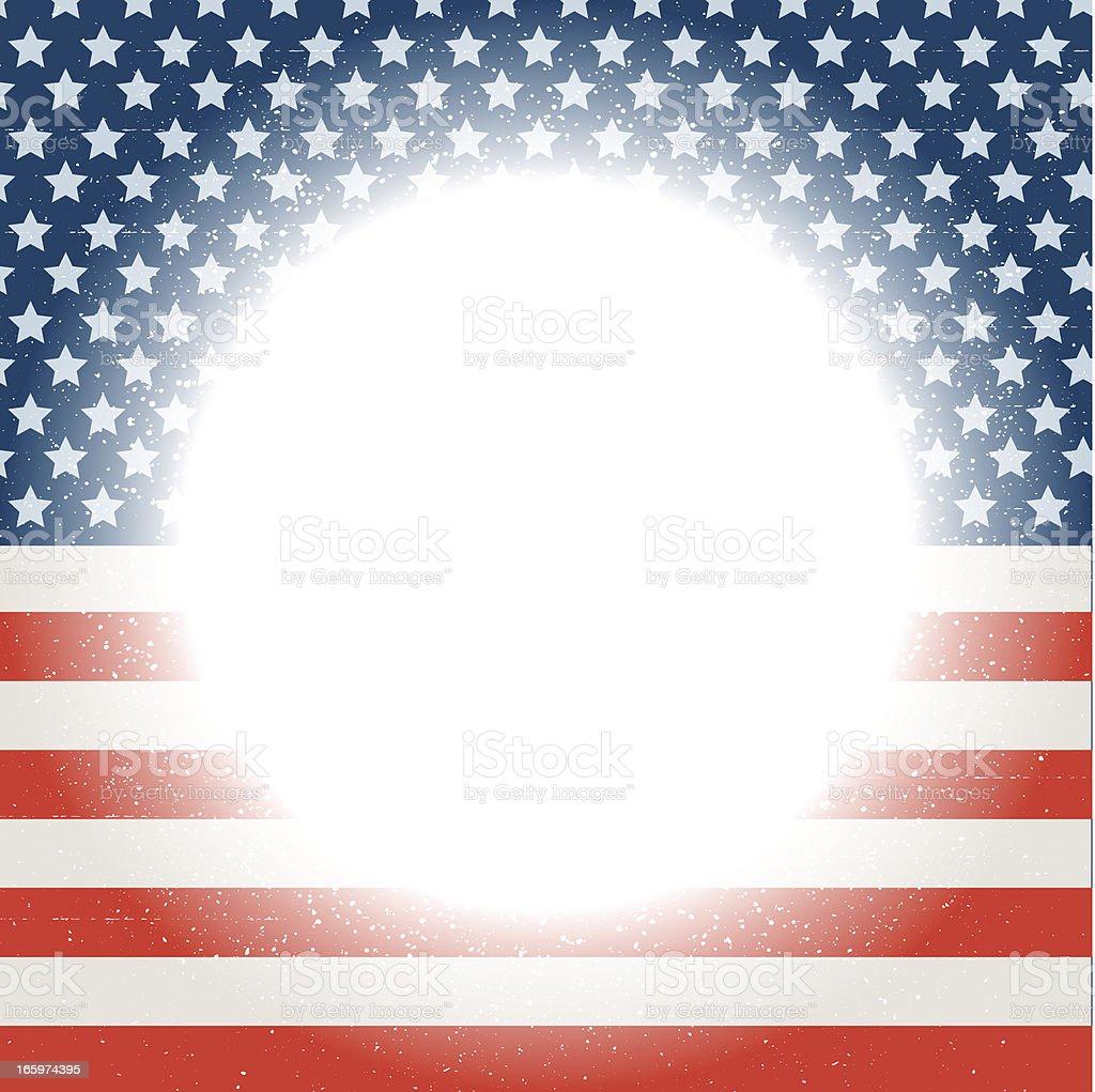 Grunge American Flag Frame vector art illustration