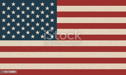 Grunge american flag texture background