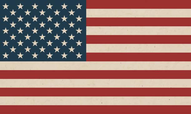 grunge amerikan bayrağı doku arka plan - american flag stock illustrations