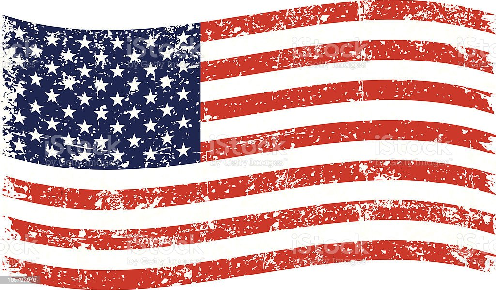 royalty free worn american flag clip art vector images rh istockphoto com free clipart of american flag free clipart of american flag