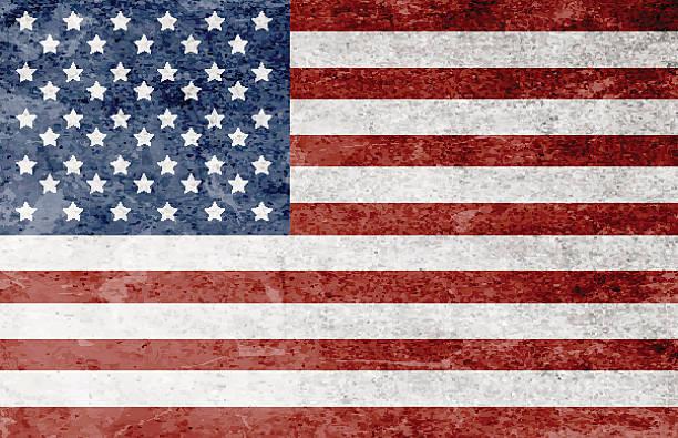 ilustrações, clipart, desenhos animados e ícones de bandeira americana grunge  - texturas desgastadas