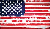 Grunge American flag. Hand drawn stripes, decorative background.