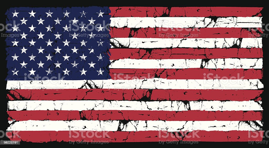 Grunge American Flag royalty-free grunge american flag stock vector art & more images of american culture
