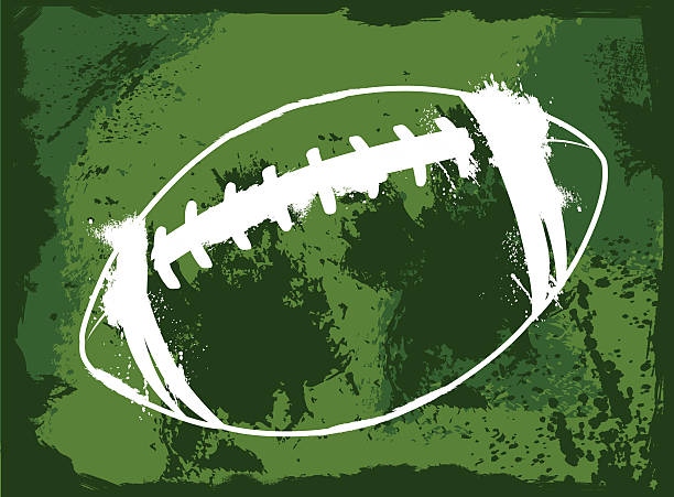 ilustraciones, imágenes clip art, dibujos animados e iconos de stock de grunge de fútbol americano - american football