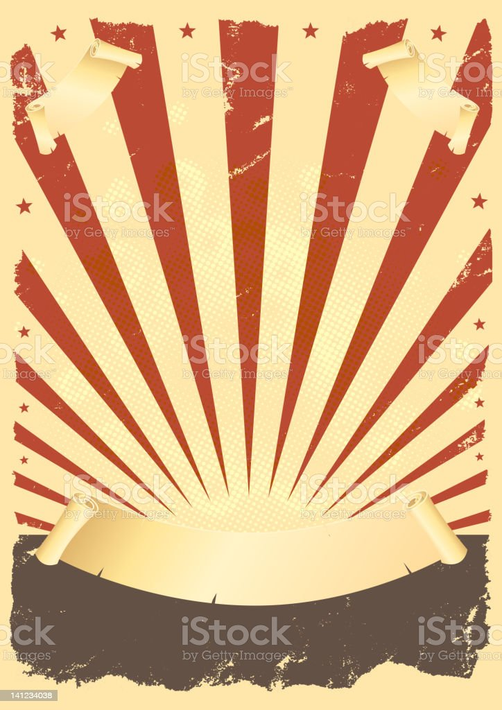 Grunge American Poster royalty-free stock vector art