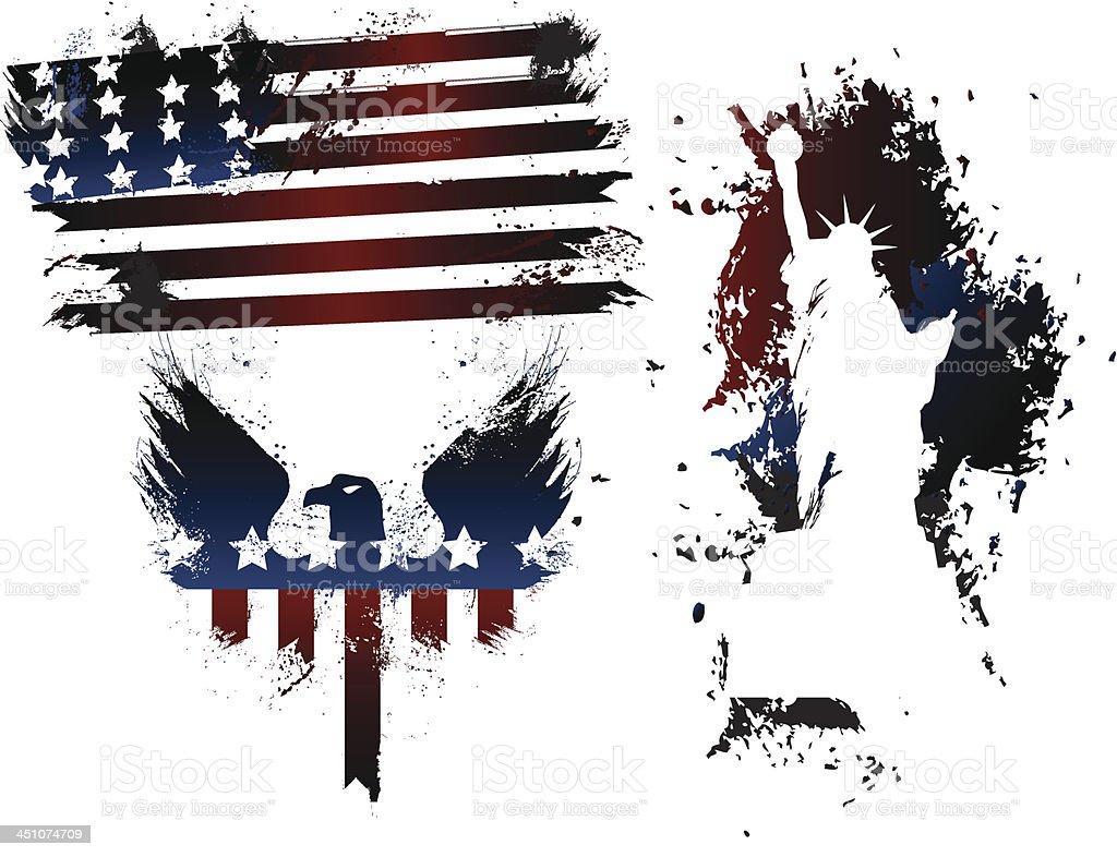 Grunge American Set royalty-free stock vector art