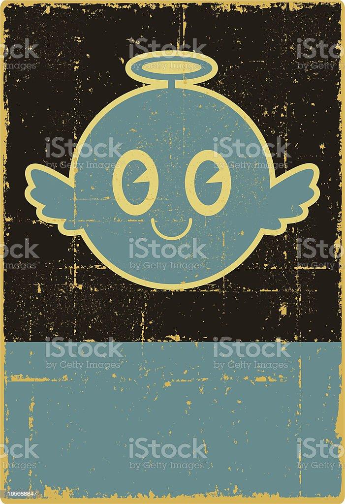 Grunge Angel Sign royalty-free stock vector art
