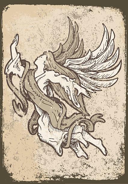 grunge angel - schutzengel stock-grafiken, -clipart, -cartoons und -symbole