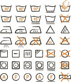 Grunge Apparel Care Symbols