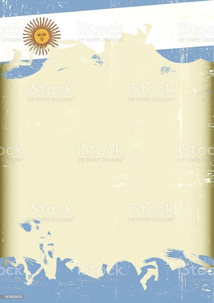 Grunge Argentina flag vector art illustration