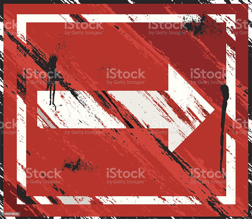 Grunge Arrow Background royalty-free stock vector art