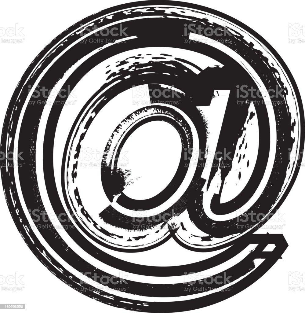 Grunge no símbolo - ilustração de arte em vetor