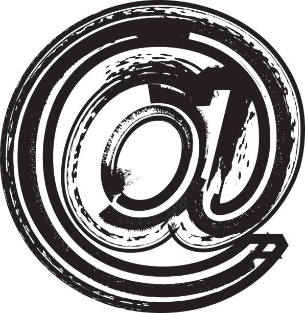 ilustrações, clipart, desenhos animados e ícones de grunge no símbolo - fontes e tipografia
