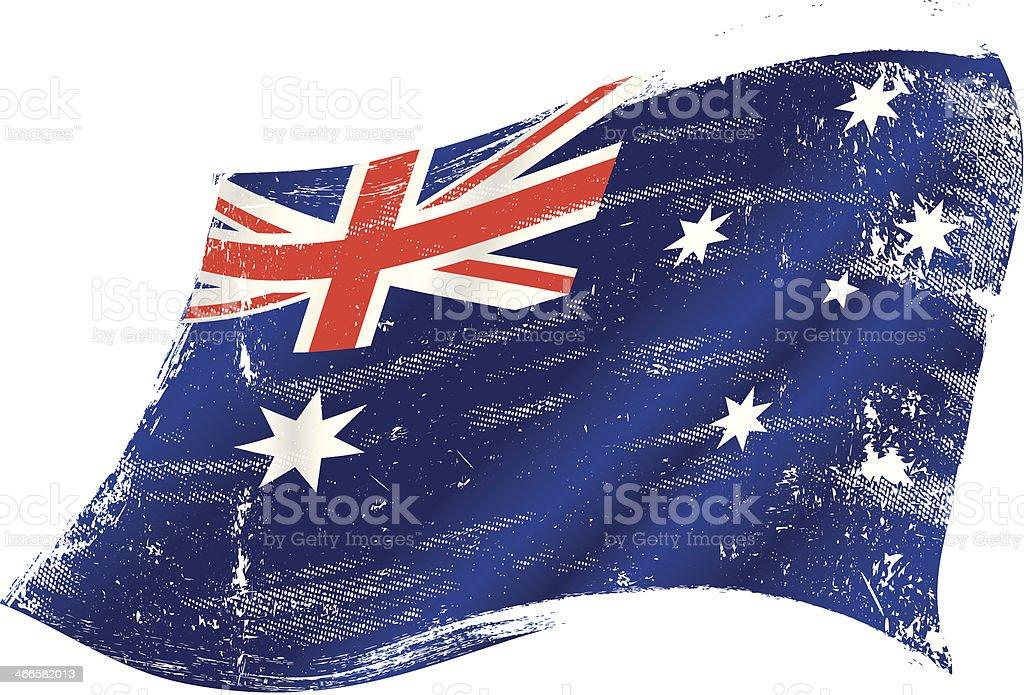グランジオーストラリア国旗 ベクターアートイラスト