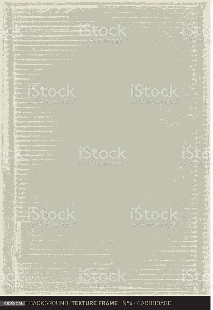 Grunge background: Cardboard (Textured frame n°4) vector art illustration