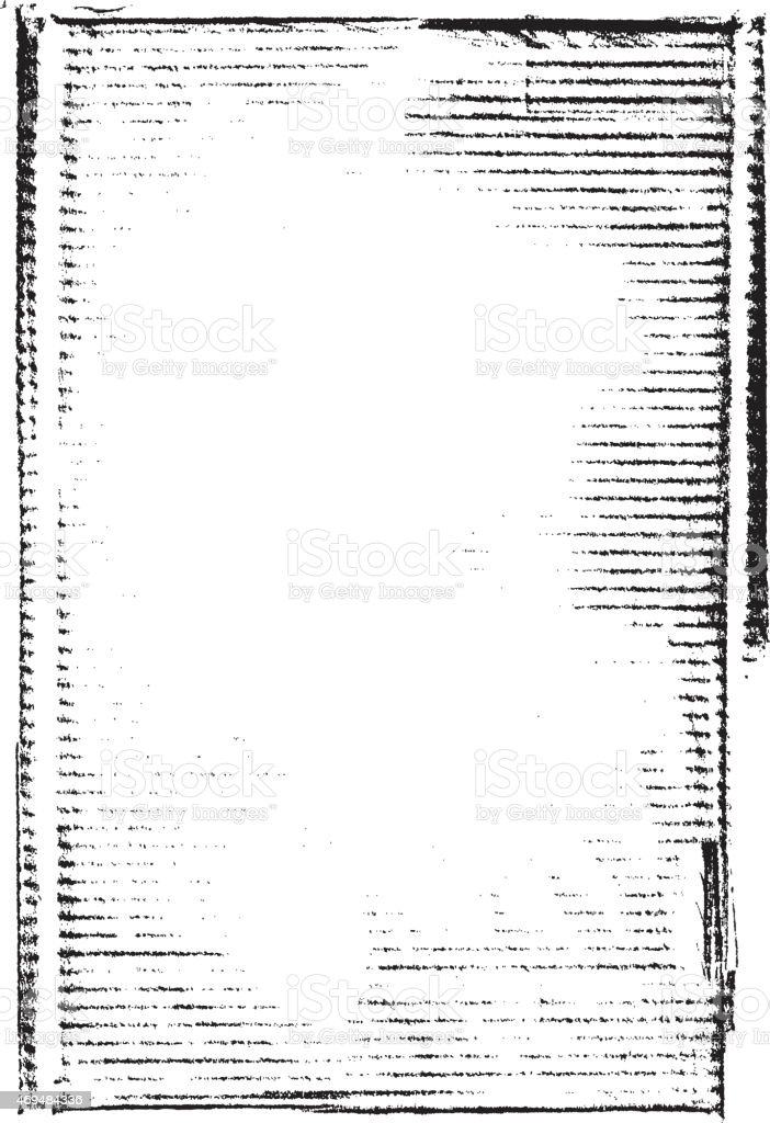 Grunge background frame: Used cardboard with lines vector art illustration