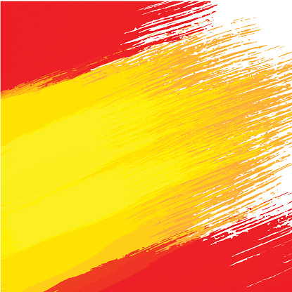 Grunge Background In Colors Of Spanish Flag Stock ...