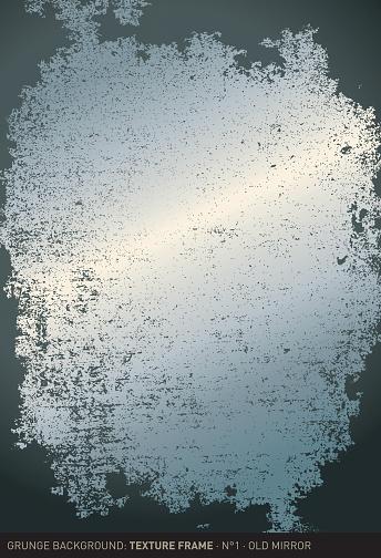 Grunge background: Old mirror (Textured frame n°1)
