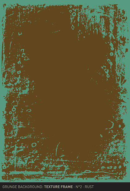 stockillustraties, clipart, cartoons en iconen met grunge background: rust (textured frame n°2) - patina