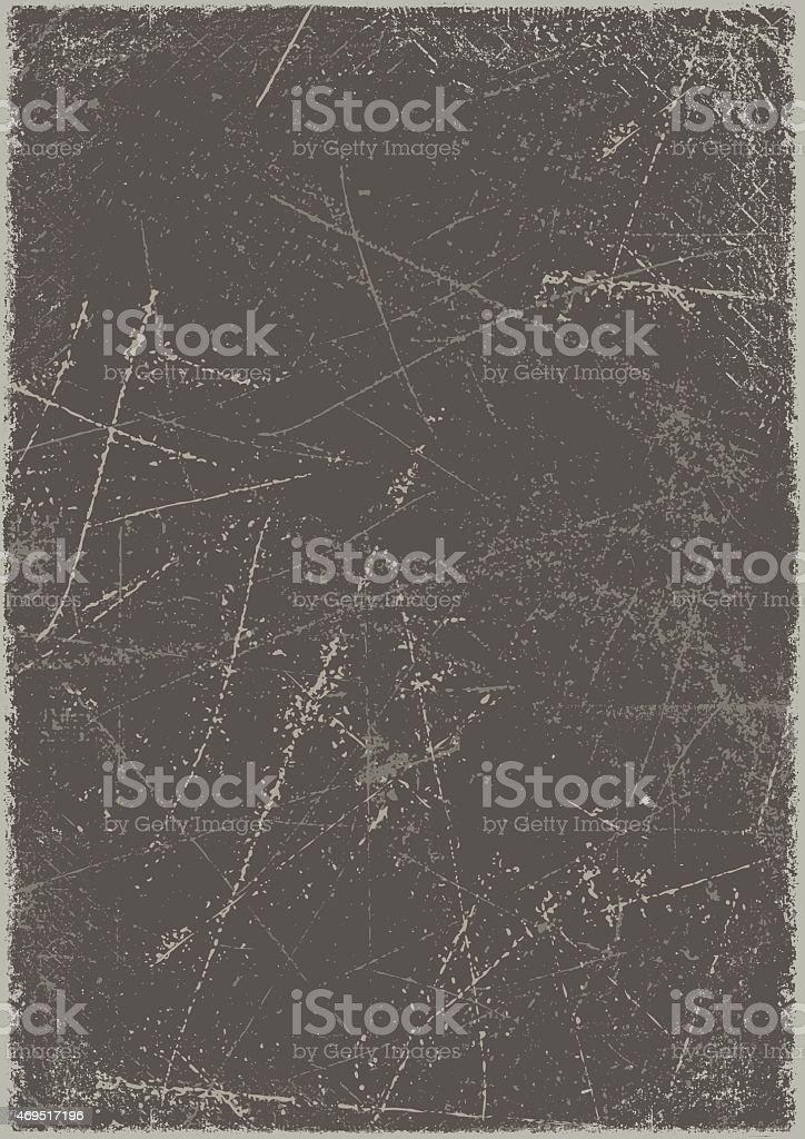 Grunge background: Scratched metal board vector art illustration