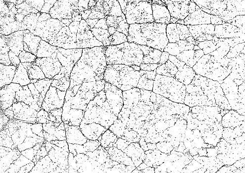 Grunge texture background. Cracks on a damaged stone wall
