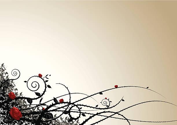 grunge background - thorn stock illustrations