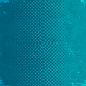 Grunge background with blue halftone gradient