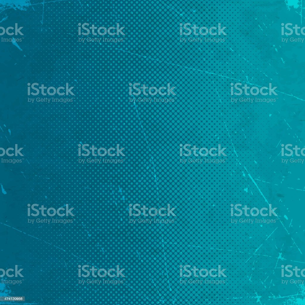 Grunge background with blue halftone gradient vector art illustration
