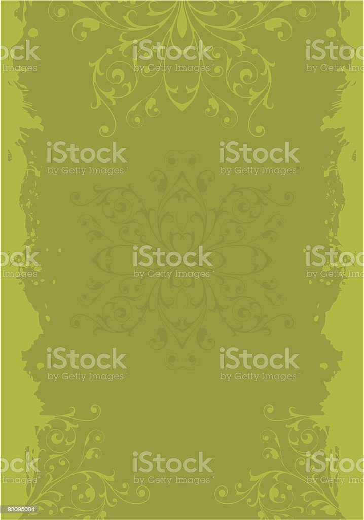 Grunge background with floral ornament royalty-free grunge background with floral ornament stock vector art & more images of antique